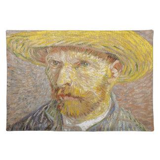 Vincent Van Gogh Self Portrait with Straw Hat Art Placemat