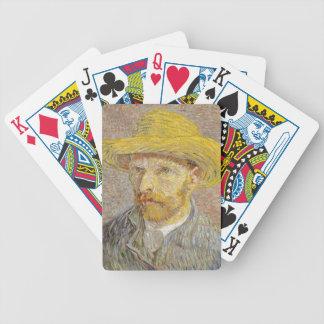 Vincent Van Gogh Self Portrait with Straw Hat Art Poker Deck