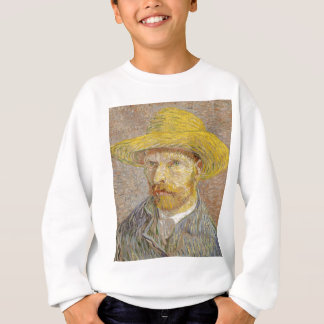 Vincent Van Gogh Self Portrait with Straw Hat Art Sweatshirt