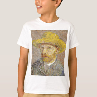 Vincent Van Gogh Self Portrait with Straw Hat Art T-Shirt
