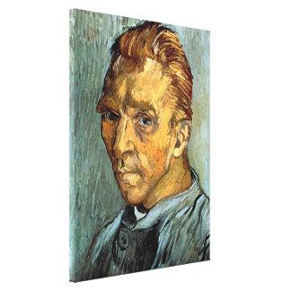 VINCENT VAN GOGH - Self portrait without beard Canvas Print