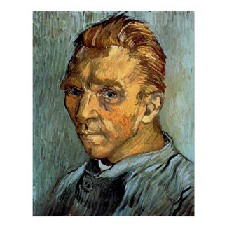 VINCENT VAN GOGH - Self portrait without beard Poster