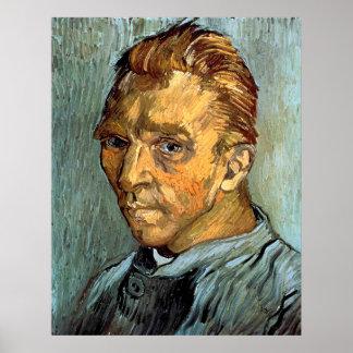 VINCENT VAN GOGH - Self portrait without beard Poster