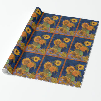 Vincent van Gogh Six Sunflowers Fine Art GalleryHD Wrapping Paper