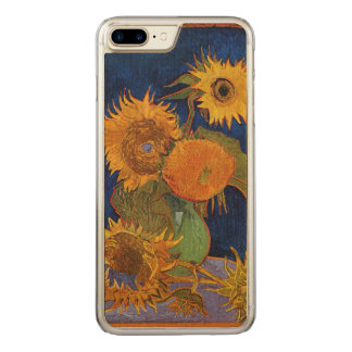 Vincent van Gogh Six Sunflowers GalleryHD Fine Art Carved iPhone 8 Plus/7 Plus Case
