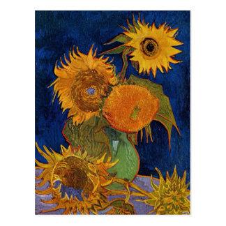 Vincent van Gogh Six Sunflowers GalleryHD Fine Art Postcard