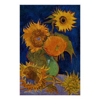 Vincent van Gogh Six Sunflowers GalleryHD Poster