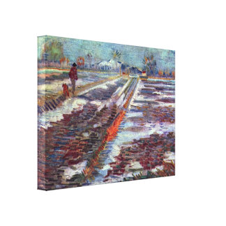 Vincent van Gogh - Snow-covered fields in Arles Gallery Wrapped Canvas