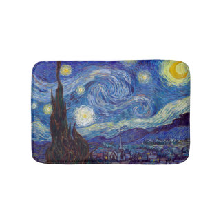 VINCENT VAN GOGH - Starry night 1889 Bath Mat