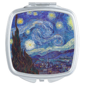 VINCENT VAN GOGH - Starry night 1889 Compact Mirrors