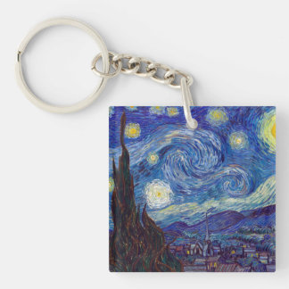 VINCENT VAN GOGH - Starry night 1889 Key Ring