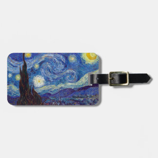 VINCENT VAN GOGH - Starry night 1889 Luggage Tag