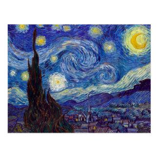 VINCENT VAN GOGH - Starry night 1889 Postcard