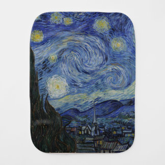 Vincent Van Gogh - Starry Night. Art Painting Baby Burp Cloth