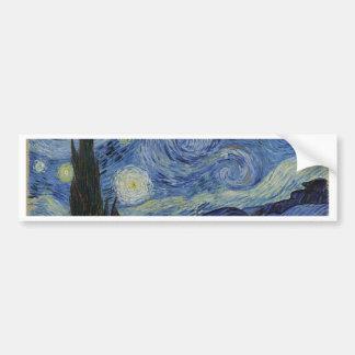Vincent Van Gogh - Starry Night. Art Painting Bumper Sticker