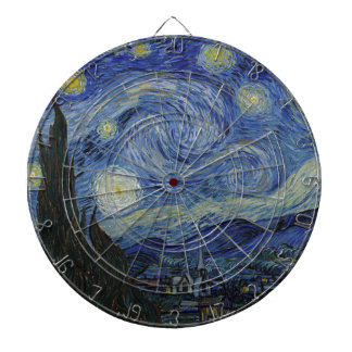 Vincent Van Gogh - Starry Night. Art Painting Dartboard