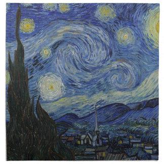 Vincent Van Gogh - Starry Night. Art Painting Napkin