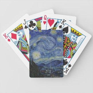 Vincent Van Gogh - Starry Night. Art Painting Poker Deck