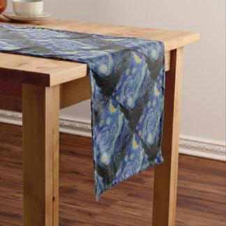 Vincent Van Gogh - Starry Night. Art Painting Short Table Runner