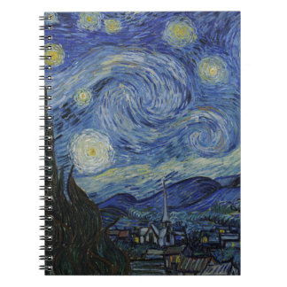 Vincent Van Gogh - Starry Night. Art Painting Spiral Notebook