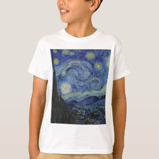 Vincent Van Gogh - Starry Night. Art Painting T-Shirt