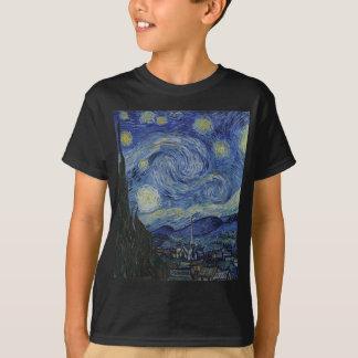 Vincent Van Gogh - Starry Night. Art Painting T-Shirt