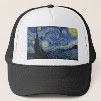 Vincent Van Gogh - Starry Night. Art Painting Trucker Hat