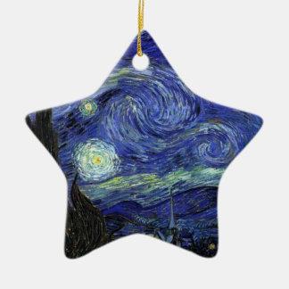 Vincent van Gogh, Starry Night Ceramic Star Decoration