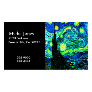 Vincent Van Gogh Starry Night Enhanced Business Cards