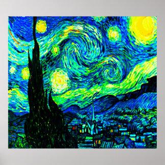 Vincent Van Gogh Starry Night Enhanced Posters