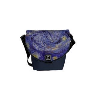 Vincent Van Gogh Starry Night Messenger Bags