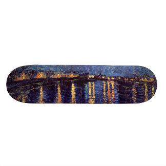 Vincent Van Gogh - Starry Night on Rhone 18.4 Cm Mini Skateboard Deck
