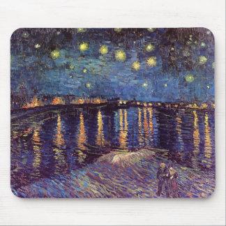 Vincent Van Gogh - Starry Night on Rhone Mousepads