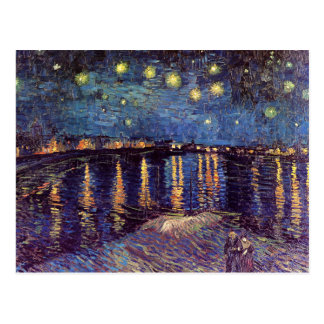 Vincent Van Gogh - Starry Night on Rhone Postcard