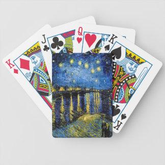 Vincent Van Gogh Starry Night Over The Rhone 1888 Poker Deck