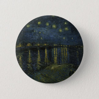 Vincent Van Gogh Starry Night Over the Rhone Art 6 Cm Round Badge