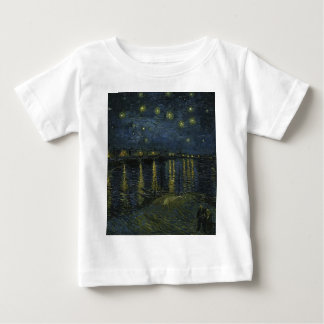 Vincent Van Gogh Starry Night Over the Rhone Art Baby T-Shirt