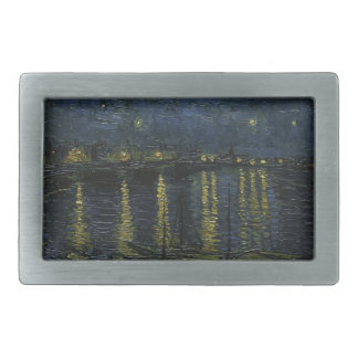 Vincent Van Gogh Starry Night Over the Rhone Art Belt Buckle