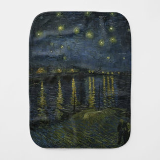 Vincent Van Gogh Starry Night Over the Rhone Art Burp Cloth