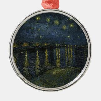 Vincent Van Gogh Starry Night Over the Rhone Art Metal Ornament