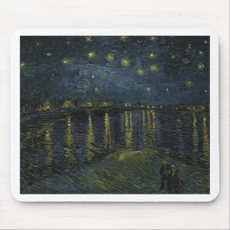 Vincent Van Gogh Starry Night Over the Rhone Art Mouse Pad