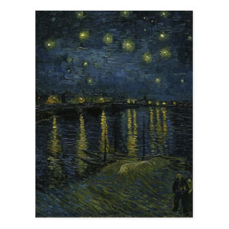 Vincent Van Gogh Starry Night Over the Rhone Art Postcard