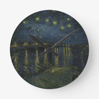 Vincent Van Gogh Starry Night Over the Rhone Art Round Clock