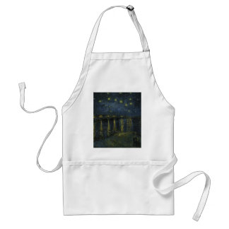 Vincent Van Gogh Starry Night Over the Rhone Art Standard Apron