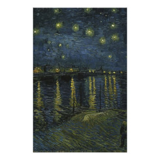 Vincent Van Gogh Starry Night Over the Rhone Art Stationery