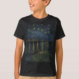 Vincent Van Gogh Starry Night Over the Rhone Art T-Shirt
