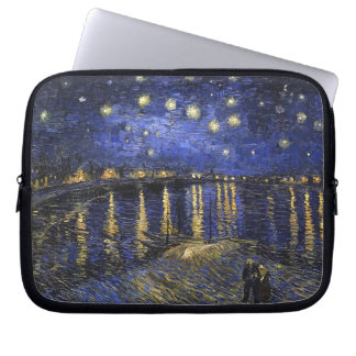 Vincent Van Gogh Starry Night Over The Rhone Computer Sleeve
