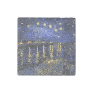 Vincent Van Gogh Starry Night Over The Rhone Stone Magnet