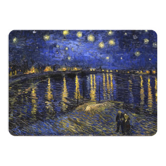 Vincent Van Gogh Starry Night Over The Rhone 13 Cm X 18 Cm Invitation Card