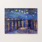 Vincent Van Gogh - Starry Night Over The Rhone Jigsaw Puzzle
